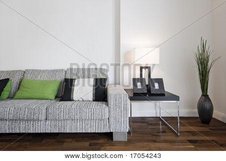 große zeitgenössische Designer Sofa mit Seite-Tabelle und lesen-Lampe