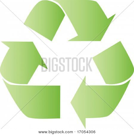 recicl o sinal verde com efeito de iluminar
