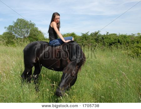 Teen And Horse