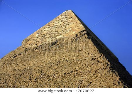 view of the pyramids of gizah near cairo in egypt