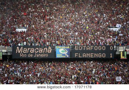 endgültig von der Fußball-Rio-Staatsmeisterschaft 2007 zwischen Flamengo Rio de Janeiro und Botafogo in das Maracana stadiu