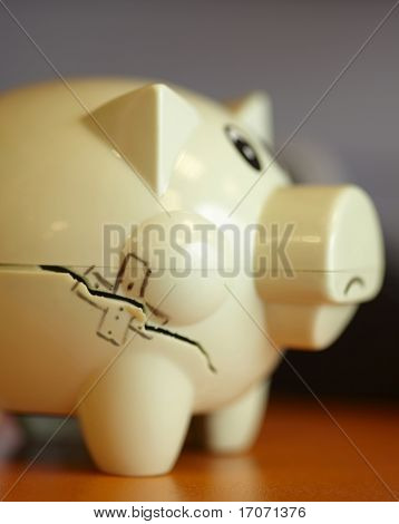 Piggy Bank With Band