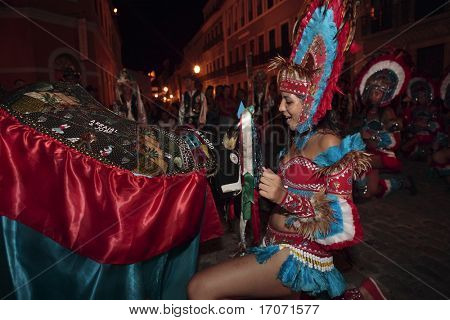bumba meu boi celebration every solstice of june in center historic city of soa luis do maranhao brazil