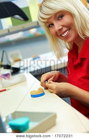 Dental Technician Grinding