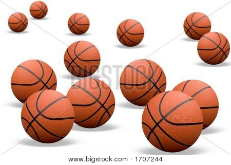 Basketballs With Shadows