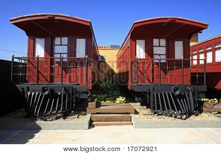 farwest red wagon hotelroom in brazil