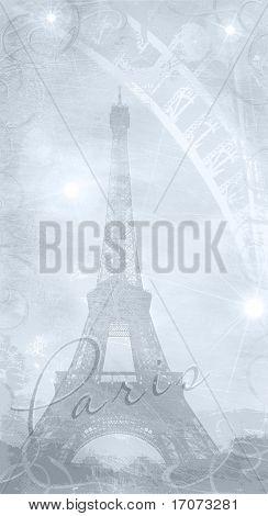 Textured Background Eiffel Tower