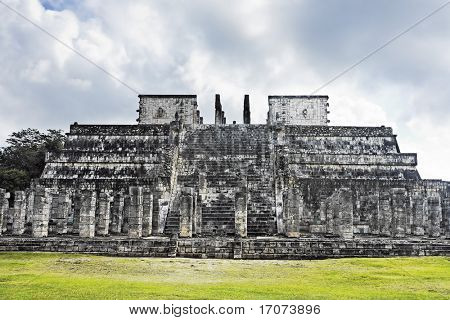 temple of the jaguar warrior of Chichen Itza in the yucatan was a Maya city and one of the greatest religious center and remains today one of the most visited archaeological site