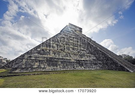 El Castillo the castel of Chichen Itza in the yucatan was a Maya city and one of the greatest religious center and remains today one of the most visited archaeological site