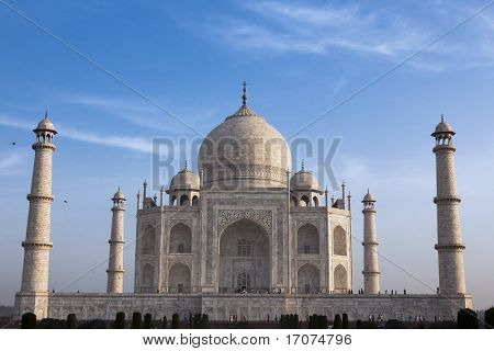 Taj Mahal in Agra Bundesstaat rajasthan