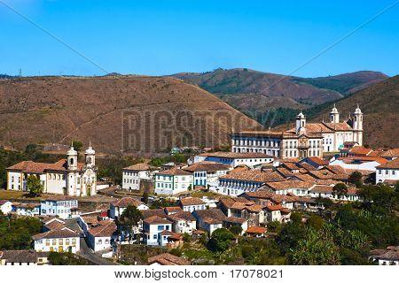 vista de la ciudad de Patrimonio Mundial de la unesco de ouro preto en minas gerais Brasil