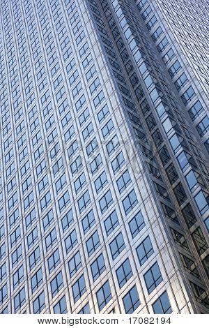 Full frame shot of the exterior of a modern city office block