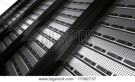 3D Rendering mehrerer Rack-Server