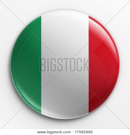 3d rendering of a badge with the Italian flag