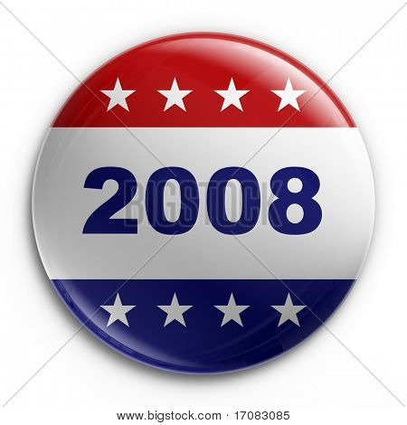 3d rendering of a badge for the 2008 presidential election
