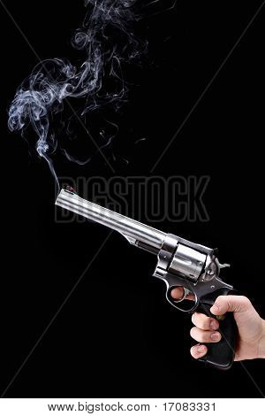 Revolver With Smoke