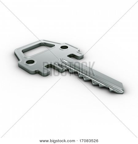 3d rendering of a car key