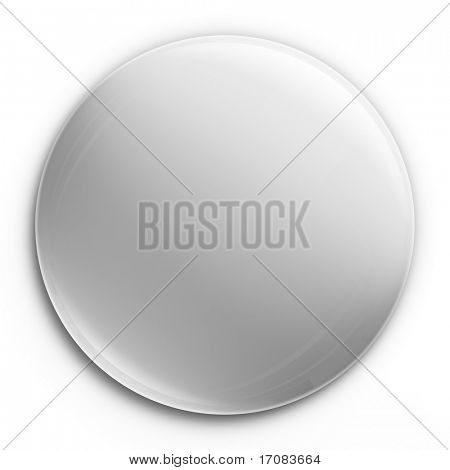 3d rendering of an empty badge