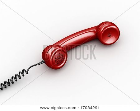 3d rendering of a handset from an old vintage phone