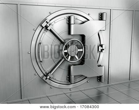 representación 3D de la bóveda de una Banco