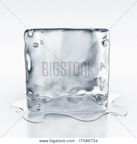 3d rendering of an icecube