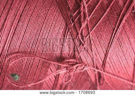 Purple Thread Fabric Wool Yarn Wrapped In A Spool Of Threads And Textiles Great For A Background