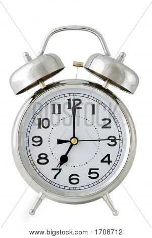 Alarm Clock On White