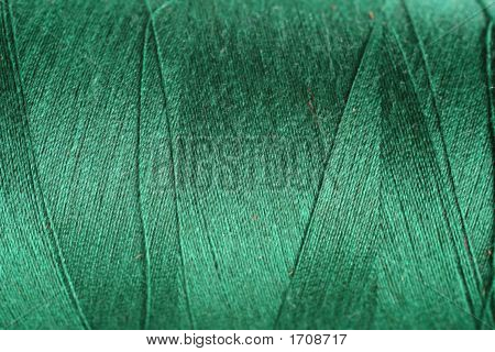 Navey Green Thread Fabric Wool Yarn Wrapped In A Spool Of Threads And Textiles Great For A Backgroun