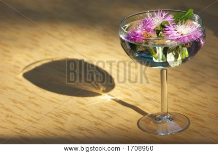 Flower Heads Sunken In A Vase