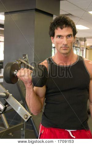 Man Lifting Weights 2