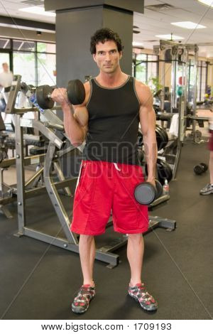 Man Lifting Weights 3