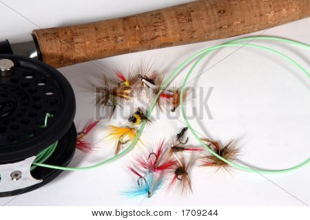 Fishing Gear On White