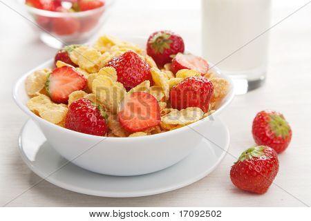 cereales con fresa