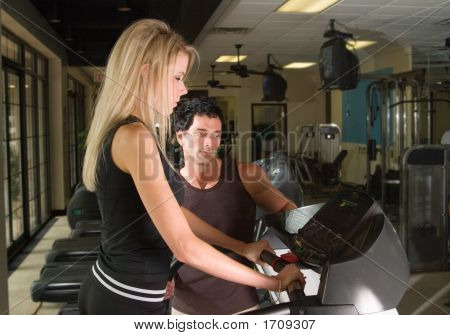 Man And Woman Exercising 1
