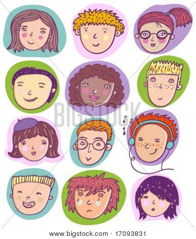 cool vector set of human cartoon individuals