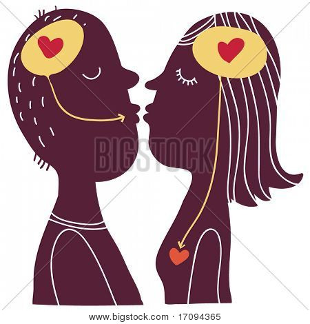 relations concept - cute cartoon illustration. This illustration in vector - in my portfolio