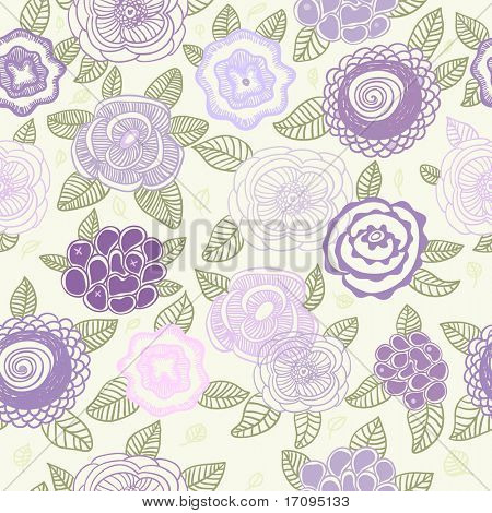 Pastel colored floral pattern for cute background