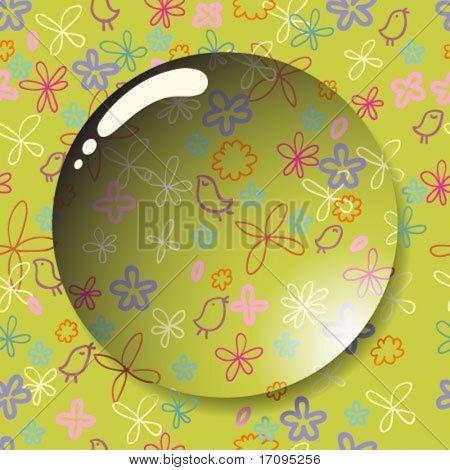 Floral summer vector lens in vector