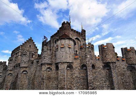 """The """"Gravensteen"""", a castle  in Gent, Belgium"""