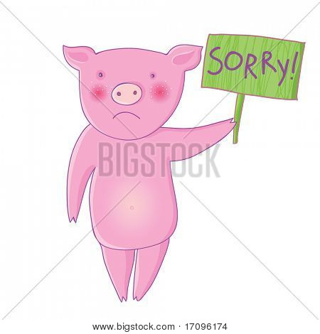 Iam sorry - cute cartoon illustration