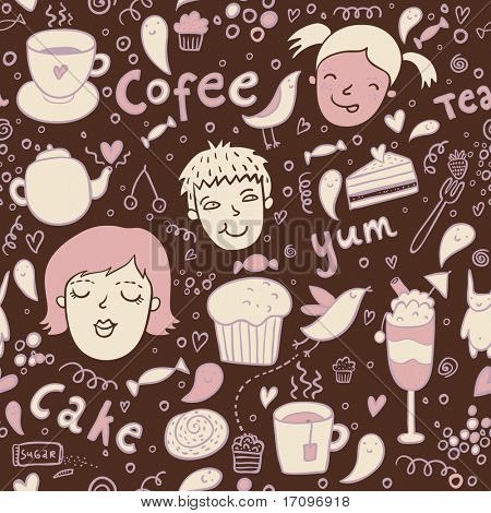 Tasty seamless pattern in vector