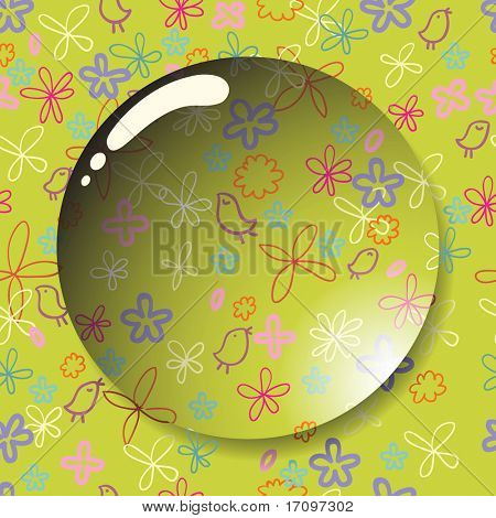 Floral summer vector lens