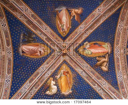 Fresco from Florence church - San Miniato al Monte - Evangelists