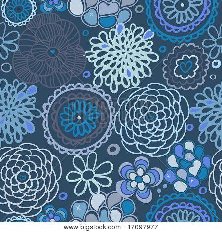 Padrão sem emenda floral azul