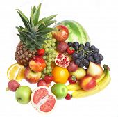 stock photo of food groups  - Ripe fresh fruit - JPG