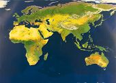 image of eastern hemisphere  - Eastern hemisphere from space  - JPG