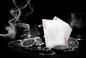 stock photo of poker hand  - Poker - JPG