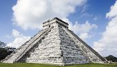 El Castillo the castel of Chichen Itza in the yucatan was a Maya city and one of the greatest religi