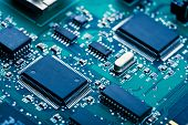 pic of microprocessor  - electronic board - JPG