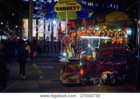 Holiday Hot Dog Wagon